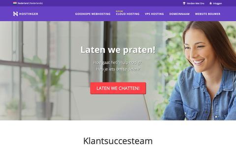 Screenshot of Contact Page hostinger.nl - Ons Bedrijf - captured Nov. 17, 2018