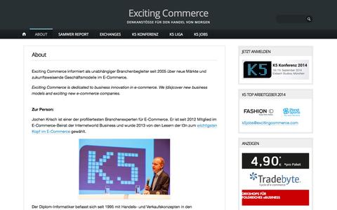 Screenshot of About Page excitingcommerce.de - About | Exciting Commerce - captured Sept. 18, 2014