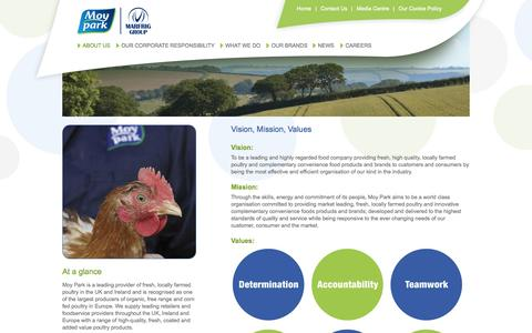 Screenshot of About Page moypark.com - Welcome to Moy Park Limited - About Us - captured Sept. 18, 2014