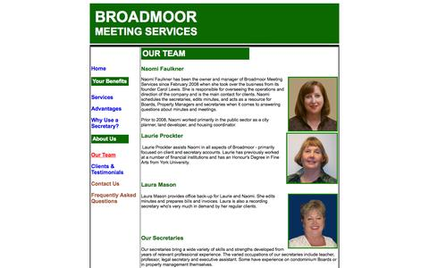 Screenshot of Team Page broadmoor-meeting.com - Broadmoor Meeting Services - Team - captured Oct. 5, 2014