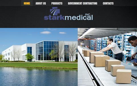 Screenshot of Home Page starkmed.com - Stark Medical - captured Oct. 7, 2014