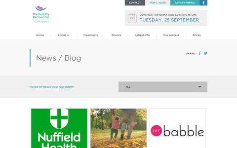 Screenshot of Blog gcrm.co.uk - Blog - GCRM Fertility - captured Sept. 25, 2018