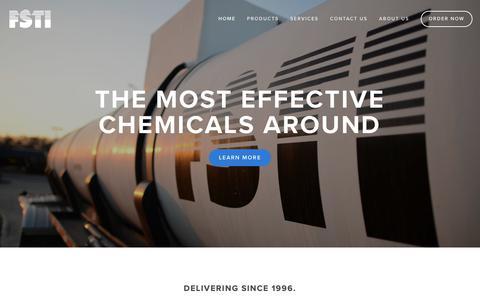 Screenshot of Home Page fstichem.com - FSTI Chemicals - captured Oct. 10, 2018