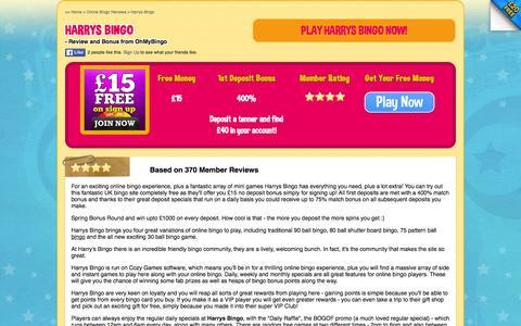 Screenshot of ohmybingo.com - Harrys Bingo - Fantastic online bingo experience - OhMyBingo - captured March 19, 2016