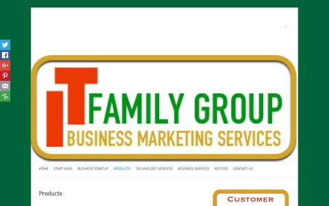 Screenshot of Products Page itfamilygroup.com - Products - captured Nov. 25, 2016