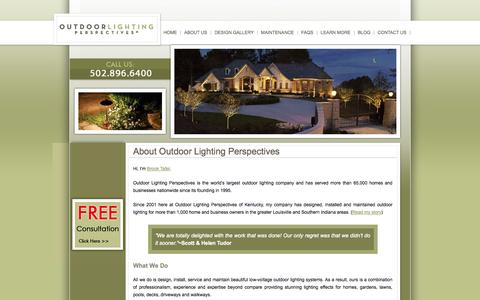 Screenshot of About Page olpky.com - About - Outdoor Lighting Prospectives of Kentucky, Louisville - Lexington | Outdoor Lighting Prospectives of Kentucky, Louisville - Lexington - captured Oct. 6, 2014