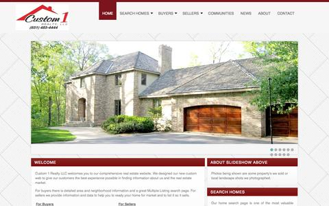 Screenshot of Contact Page custom1realty.com - Contact Information for Custom 1 Realty LLC - captured Oct. 3, 2014
