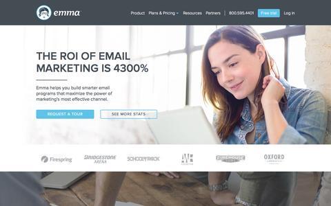 Screenshot of Contact Page myemma.com - Email Marketing Services - Email Marketing Software - Email Marketing   Emma, Inc. - captured Oct. 29, 2015