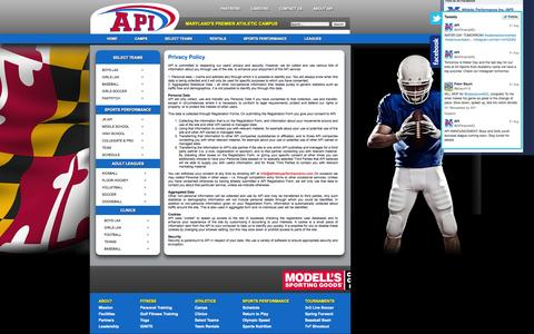 Screenshot of Privacy Page athleticperformanceinc.com - Privacy Policy - captured Oct. 4, 2014