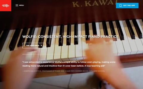 Screenshot of Maps & Directions Page tonara.com - Wolfie for piano app - Tonara - captured Dec. 1, 2015