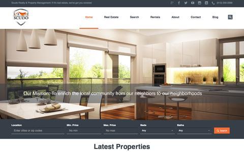Screenshot of Home Page scudore.com - Scudo Real EstateScudo Realty & Property Mgmt | Kansas City Real Estate - captured Jan. 25, 2015