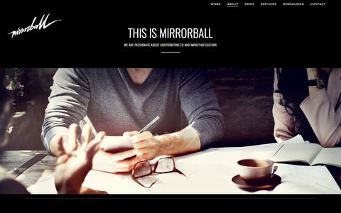About | Mirrorball