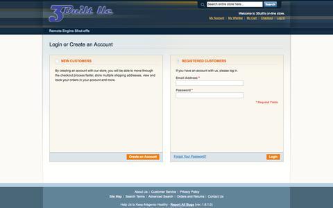 Screenshot of Login Page 3built.com - Customer Login - captured Oct. 3, 2014