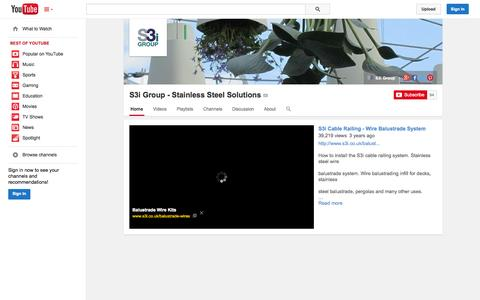 Screenshot of YouTube Page youtube.com - S3i Group - Stainless Steel Solutions  - YouTube - captured Nov. 3, 2014