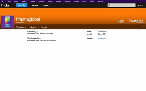 Screenshot of Flickr Page flickr.com - Flickr: Prismaglobal - captured Oct. 22, 2014