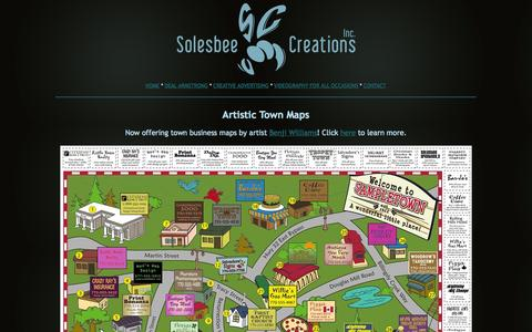 Screenshot of Maps & Directions Page solesbeecreations.com - Solesbee Creations, Inc. | Artistic Town Maps - captured Oct. 9, 2014