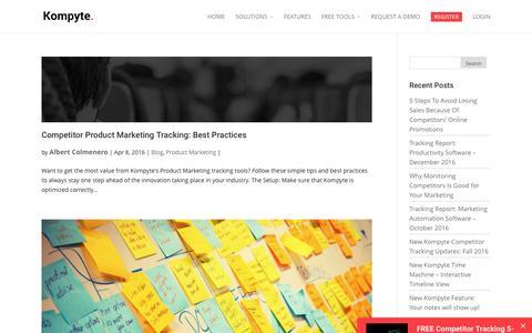 Product Marketing Archives | Kompyte