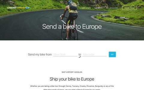 Send a Bike to Europe - Europe Bike Shipping Service