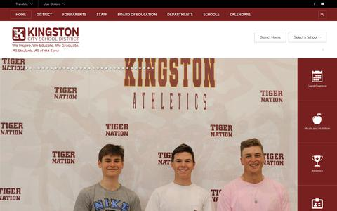 Screenshot of Home Page kingstoncityschools.org - Home / Homepage - captured Sept. 26, 2018