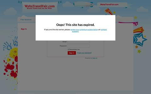 Screenshot of Login Page webstravelfair.com - Login - captured Jan. 14, 2016