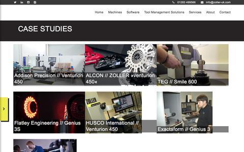 Screenshot of Case Studies Page zoller-uk.com - Case Studies - Zoller UK - captured Sept. 21, 2018