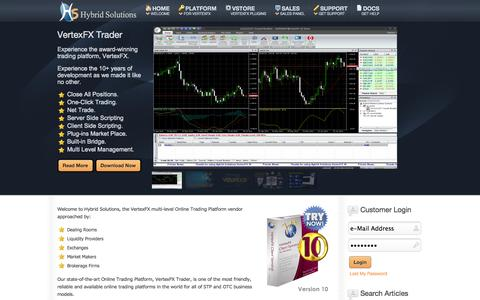 Screenshot of Home Page hybrid-solutions.com - Online Platform for Forex & Currency Trading: Hybrid-Solutions - captured Sept. 22, 2014