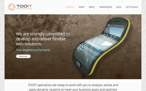 Screenshot of Home Page Services Page tooit.com - Services | Tooit Web Solutions - captured Oct. 7, 2014