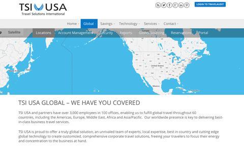 Screenshot of Locations Page tsiusa.com - Locations - Travel Solutions International USA - captured Sept. 19, 2018