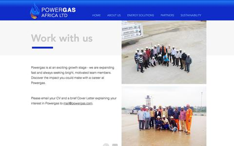 Screenshot of Jobs Page powergas.com - Work at Powergas | CNG Natural Gas in Africa - captured Aug. 22, 2017