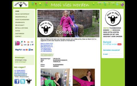Screenshot of Contact Page stoerensterk.nl - Stoer en Sterk Kinderoveralls - Contact - captured Oct. 9, 2014