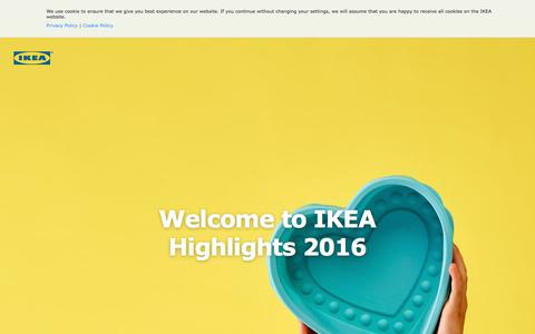 Screenshot of ikea.com - IKEA Highlights - IKEA - captured Dec. 9, 2016