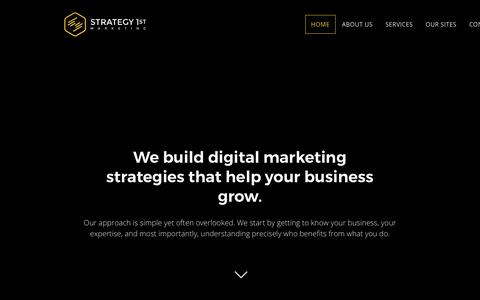 Screenshot of Home Page strategy-1st.com - Digital Marketing for Business Growth - captured Oct. 4, 2017