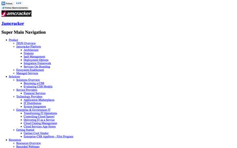 Screenshot of Blog jamcracker.com -   Jamcracker - captured Sept. 19, 2014
