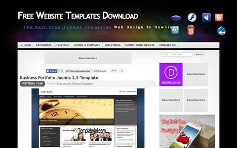 Screenshot of Home Page template4all.com - Free Website Themes Templates Download - captured Sept. 22, 2014