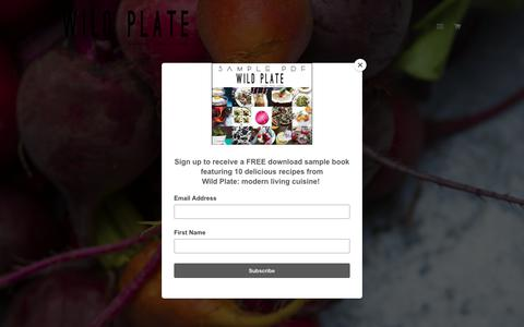 Screenshot of Home Page wild-plate.com - Wild Plate food photography & cookbook design – wildplate - captured July 9, 2018