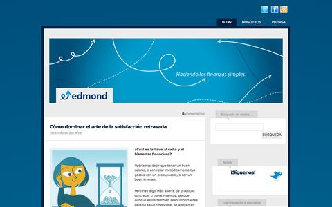 Screenshot of Blog edmond.com.co - Edmond Colombia – Finanzas Personales - captured Sept. 20, 2015