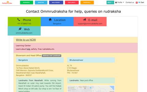 Screenshot of Contact Page ommrudraksha.com - Online customer support page - What can we help you with - captured Dec. 10, 2018
