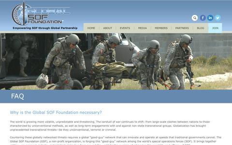 Screenshot of FAQ Page globalsoffoundation.org - FAQ | Global SOF Foundation - captured Dec. 10, 2015