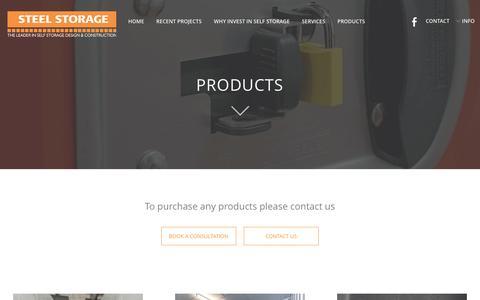 Screenshot of Products Page steelstorage.com.sg - Products - Steel Storage - captured Dec. 2, 2016