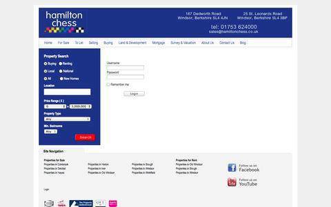 Screenshot of Login Page hamiltonchess.co.uk - Hamilton Chess - captured Sept. 27, 2014