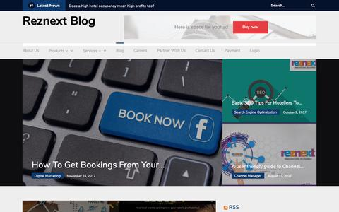 Screenshot of Blog reznext.com - Reznext Global Solutions| Digital Marketing Services - captured Oct. 7, 2018