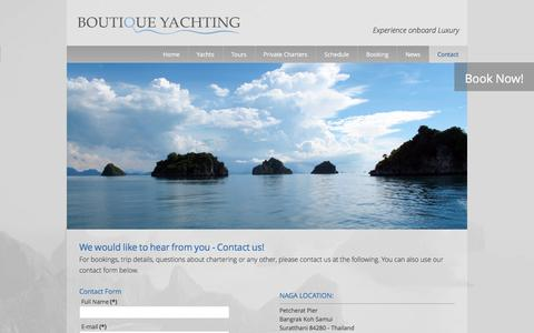 Screenshot of Contact Page boutiqueyachting.com - Contact - Boutique Yachting - captured Jan. 7, 2016