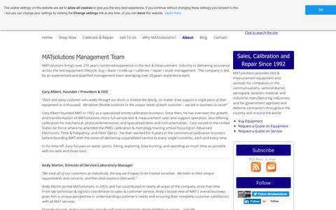 Screenshot of Team Page matsolutions.com - Management Team | MATsolutions - captured Nov. 5, 2018