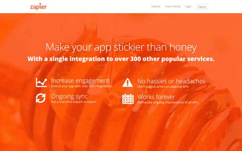 Screenshot of Developers Page zapier.com - Developer Platform - Zapier - captured Oct. 10, 2014