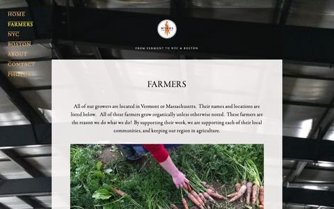 Screenshot of Locations Page myersproduce.com - FARMERS Ń Myers Produce - captured Jan. 11, 2016