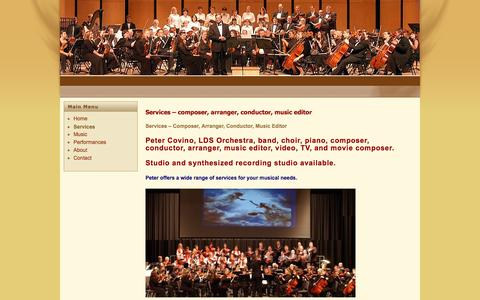 Screenshot of Services Page orchestracomposer.com - Services – Orchestra Composer - captured Nov. 18, 2016