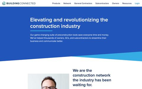 Screenshot of About Page buildingconnected.com - About Our Company | BuildingConnected - captured June 14, 2019