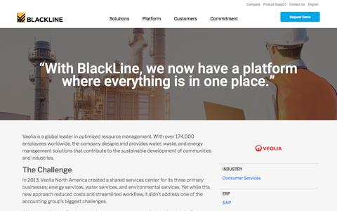 Screenshot of Case Studies Page blackline.com - Veolia - captured Nov. 29, 2019