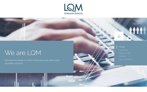 Screenshot of Home Page lqm.com - LQM - Petroleum Services - captured Sept. 25, 2018