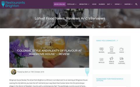 Screenshot of Blog restaurantsbrighton.co.uk - Latest news, reviews and interviews from Restaurants Brighton - captured Oct. 19, 2018